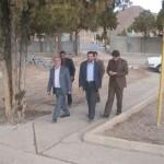 بازدید فرماندار و معاون ایشان از پارک در حال آماده سازی بانوان