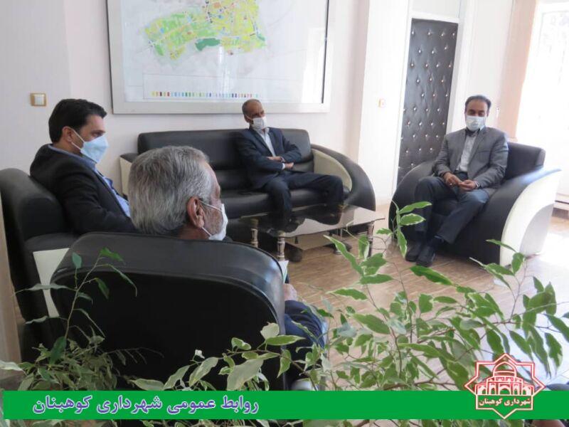 دیدار دکتر بهرامی نژاد رئیس دانشگاه آزاد اسلامی شهرستان کوهبنان با شهردار