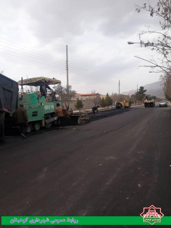 آغاز فاز اول عملیات روکش آسفالت بلوار شهید صدوقی