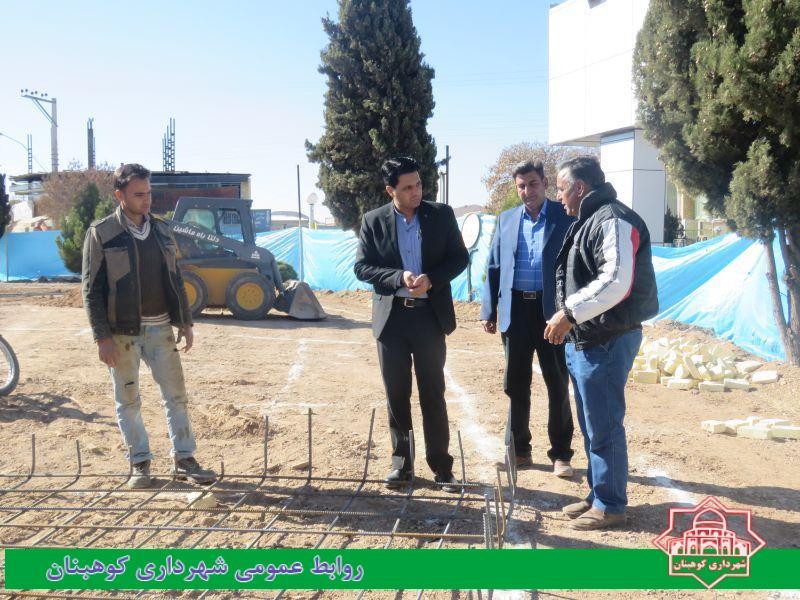 بازدید روزانه شهردار از روند عملیات اجرایی بازسازی میدان شهدا