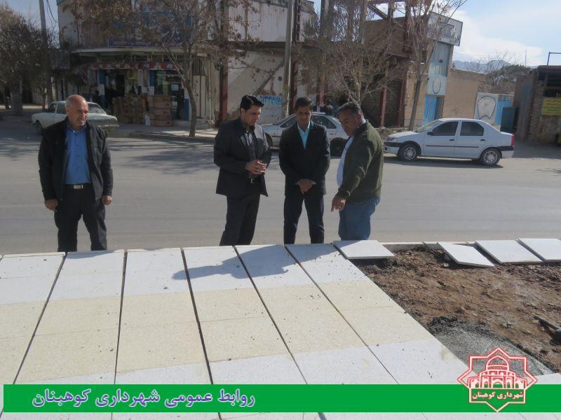 بازدید شهردار از روند عملیات اجرایی بازسازی و زیبا سازی میدان شهدا
