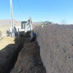 عملیات حفاری جهت آبرسانی به ساختمان  جدید غسالخانه