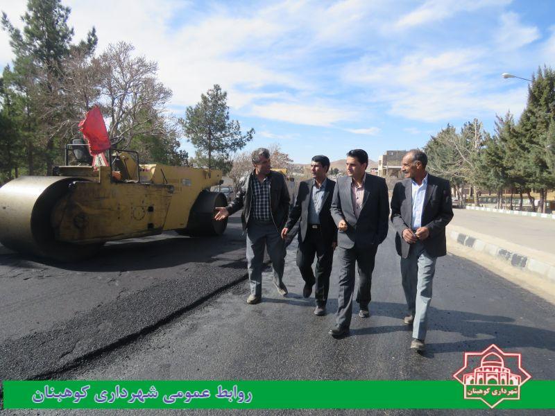 بازدید شهردار و رییس شورای شهر از عملیات اجرایی روکش آسفالت بلوار برهان الدین