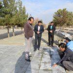 بازدید شهردار از روند عملیات ساخت بوستان معراج واقع در بلوار برهان الدین