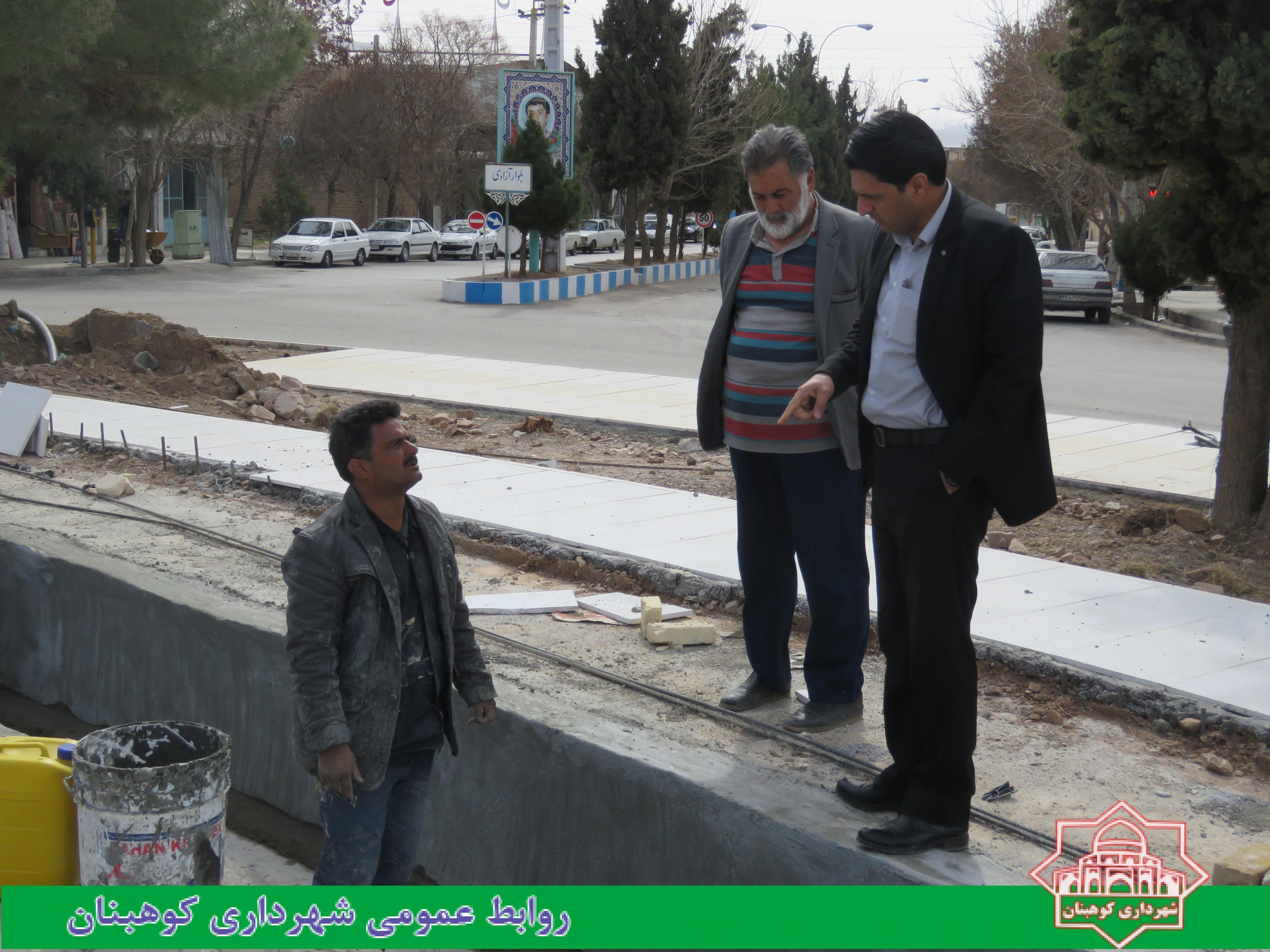 بازدید شهردار از روند عملیات اجرایی پروژه بازسازی و زیباسازی میدان شهدا