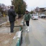 بازدید شهردار از سطح شهر در روز بارانی