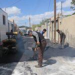 گزارش تصویری از آسفالت خیابان مسجدالرضا(ع)