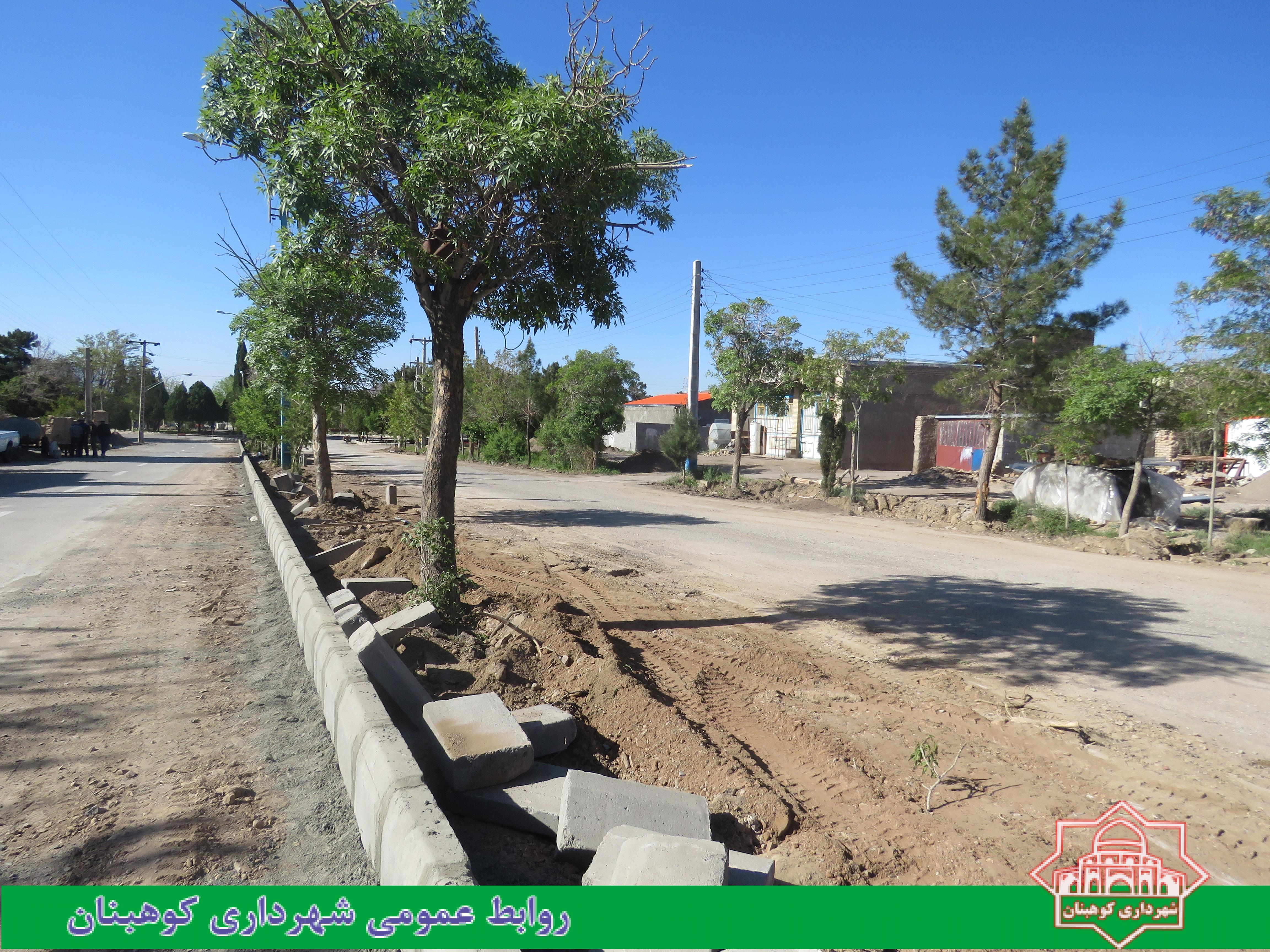 اجرای عملیات تعویض جداول بلوار عصمتیه
