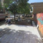 اجرای عملیات فرش موزائیک بلوار آزادی
