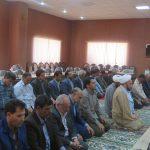 نماز وحدت با حضور مسئولین برگزار شد