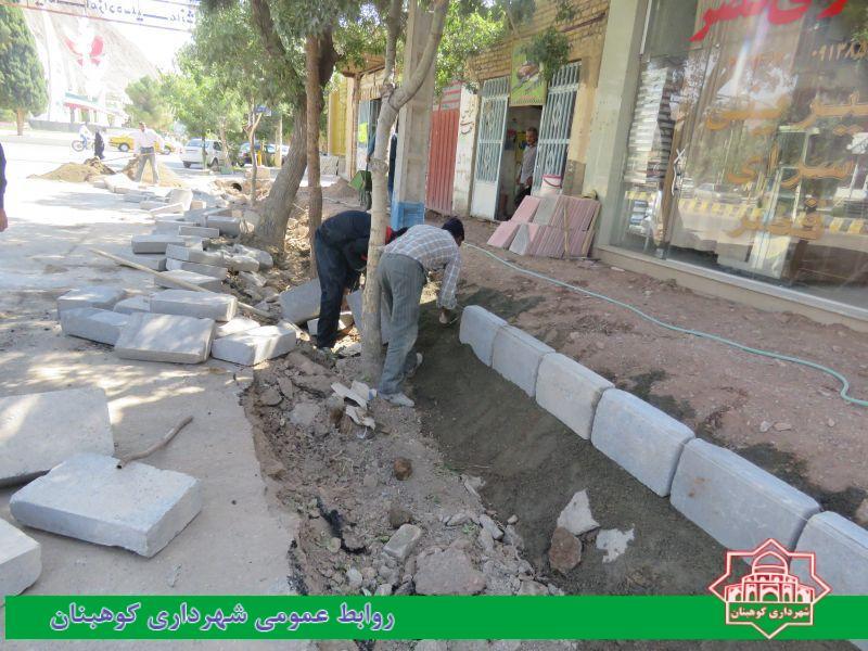 اجرای عملیات تعویض جداول فرسوده خیابان شهدا