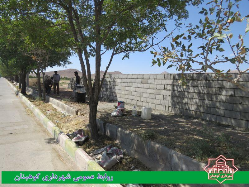 حصارکشی زمین های بایر کشاورزی خیابان شهدا