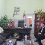 دیدار رئیس شورای شهر وشهردار از فرماندهی محترم انتظامی کوهبنان