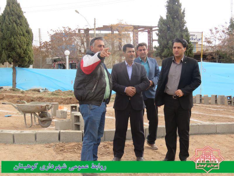 بازدید رییس شورای اسلامی شهر و شهردار از پروژه بازسازی میدان شهدا